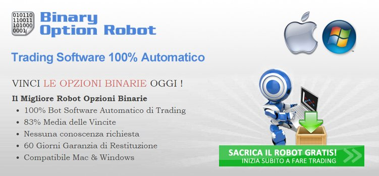 Licensed binary option robot