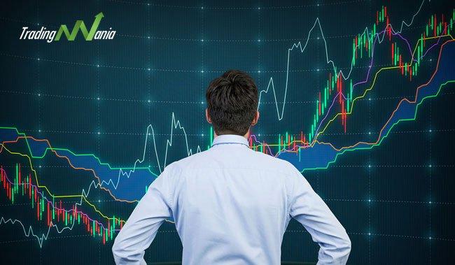 Trader e grafrici di forex trading