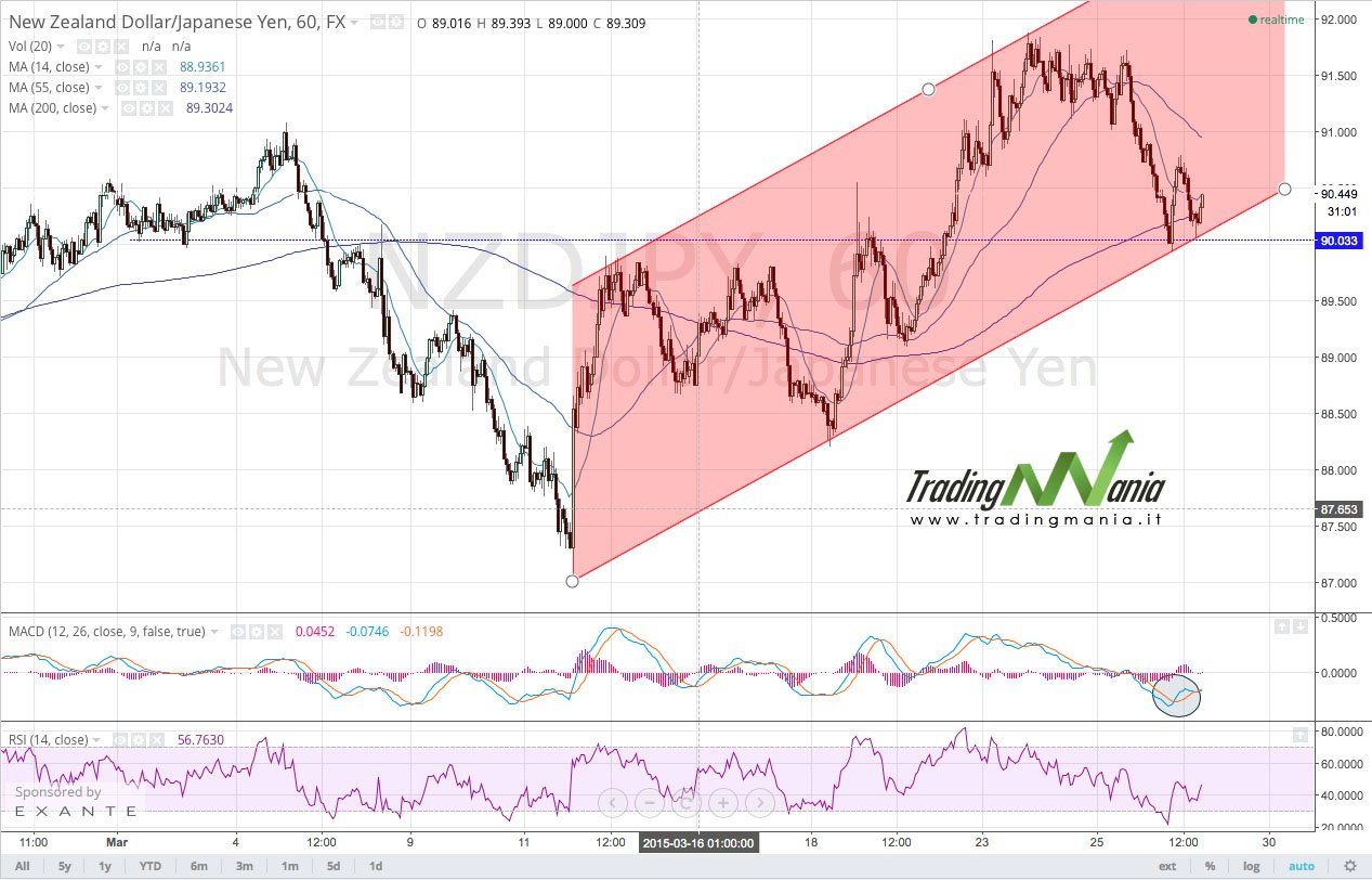 strategia di trading online su forex NZDJPY: comprare!