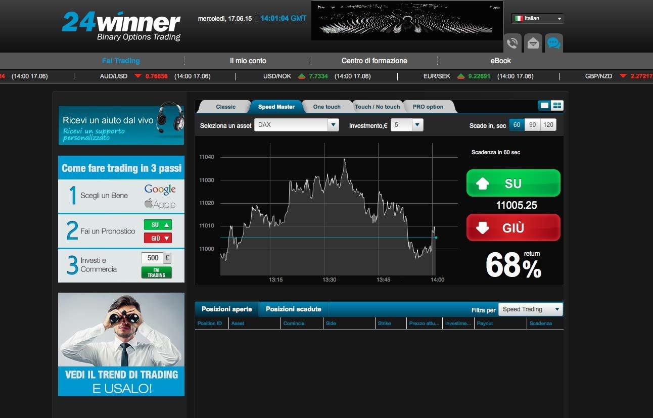 sito trading binario bonus benvenuto