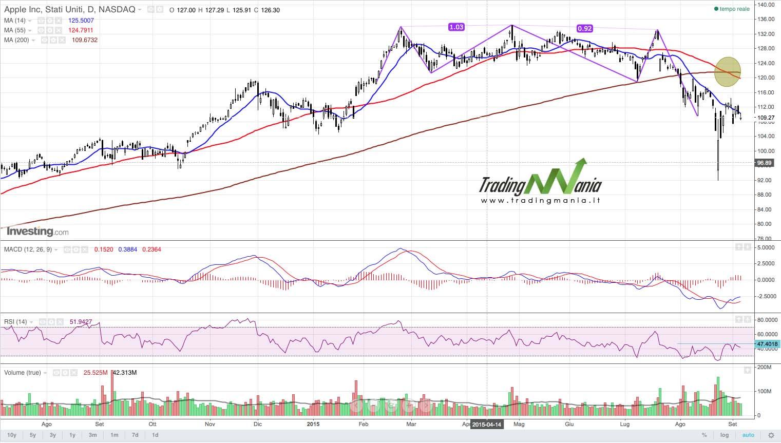 Azionario: Apple in bilico!