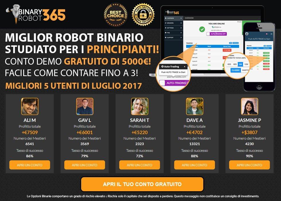 Prova BinaryRobot365 Gratis!