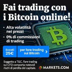 Fai trading con i Bitcoin!