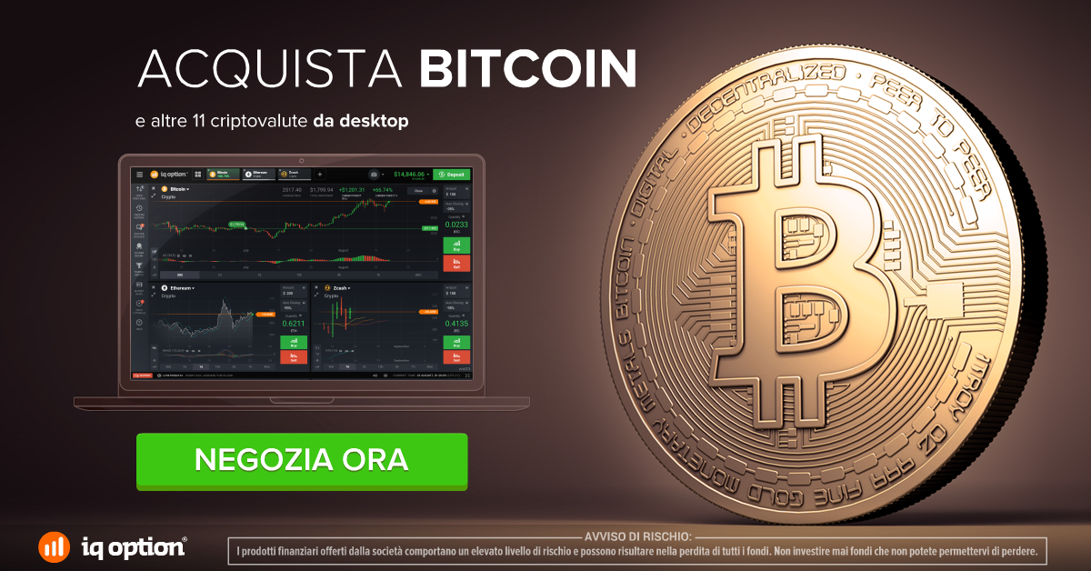 Acquista Bitcoin con Iqoption