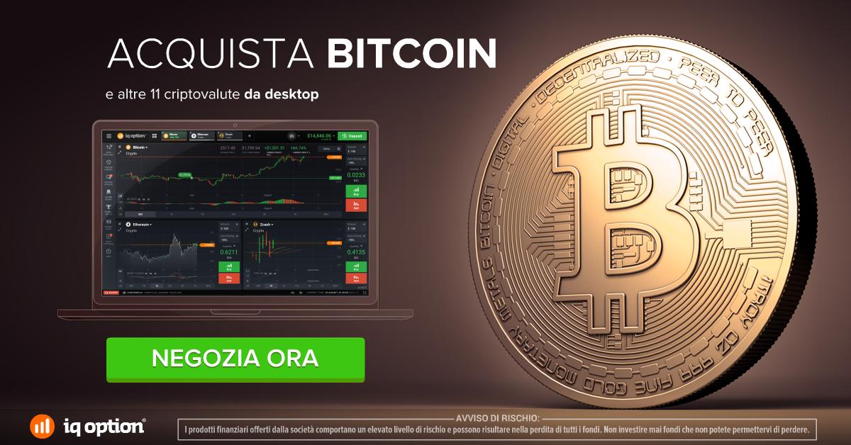 Acquista Bitcoin con Iqoption