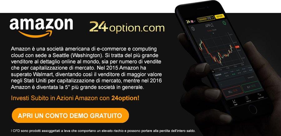 Investire sulle azioni Amazon 24option