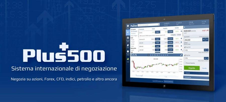 Piattaforma trading Plus500