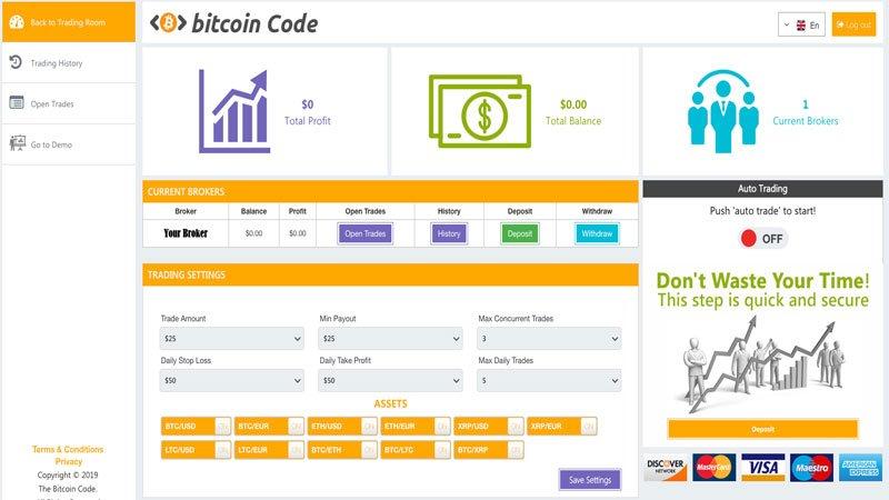 Piattaforma Bitcoin Code: è una truffa? Recensione e Opinioni