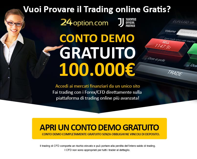 Apri un Conto Demo Gratuito con 24option