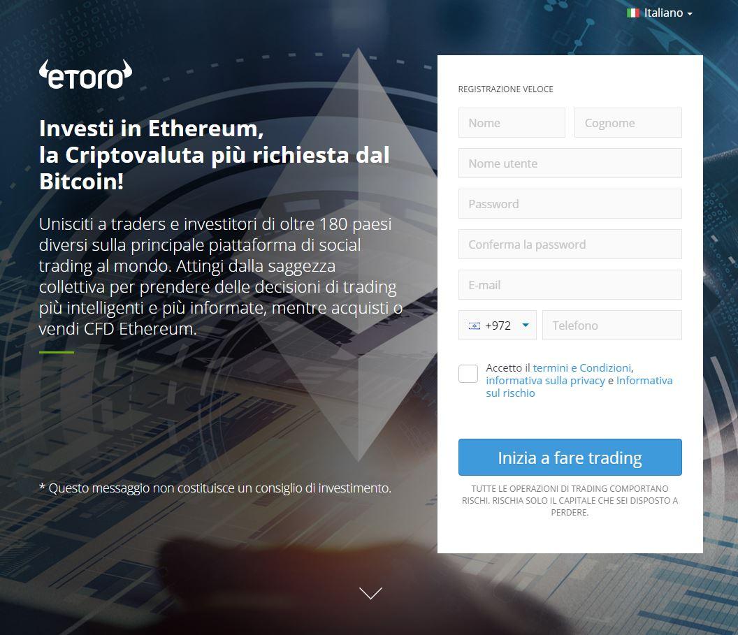 Investi in Ethereum con eToro!