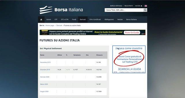 Borsa italiana Futures