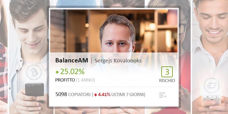 Il Famoso Popular Investor BalanceAM statistiche e operazioni