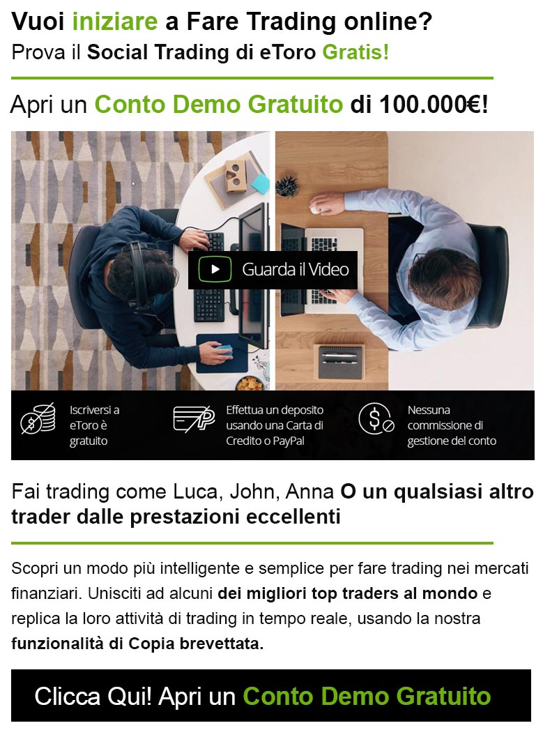 Prova il Social Trading di eToro