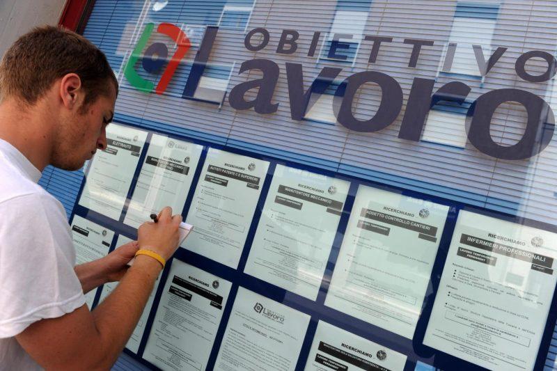 Risale il tasso di disoccupazione in Italia