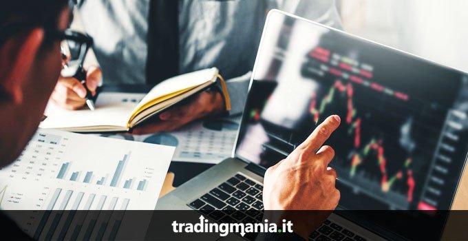trader grafici laptop