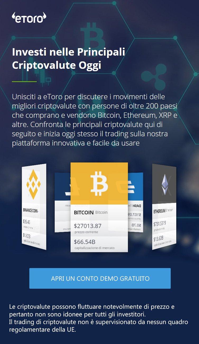 Prova il Trading Bitcoin di eToro